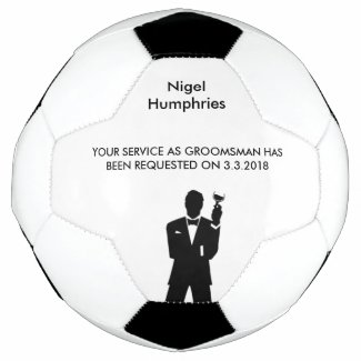 Best Man or Groomsman Soccer Ball Invite