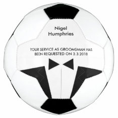 Best Man Or Groomsman Soccer Ball Invite at Zazzle