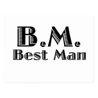 Best Man Postcard