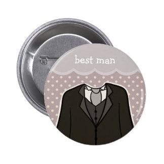 Best Man PURPLE Pins