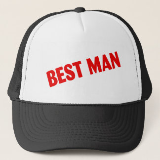 Best Man Red Trucker Hat