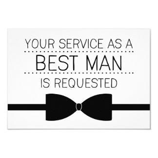 Best Man Request | Groomsmen 3.5x5 Paper Invitation Card