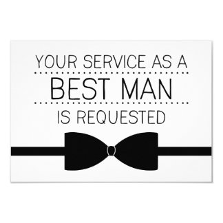Best Man Request | Groomsmen Card