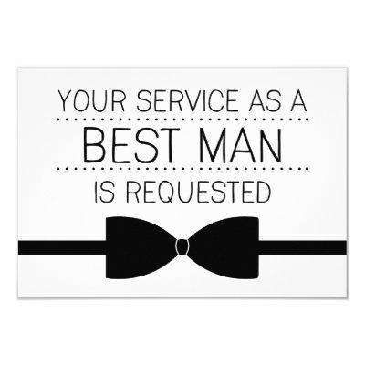 will you be my best man groomsmen invitation zazzle com