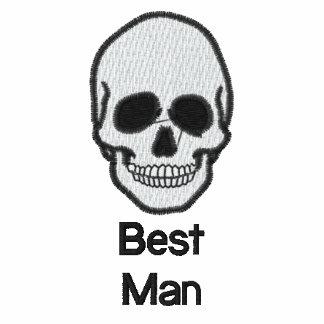 Best man skull embroidered men's t-shirt