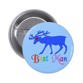 Best Man Stag Button