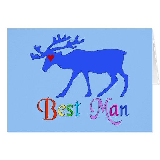 Best Man Stag Greeting Card
