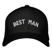 Best man text embroidered baseball hat