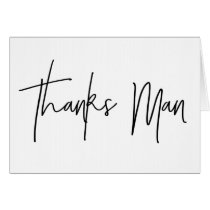 Best Man Thank You Card Thanks Man Card