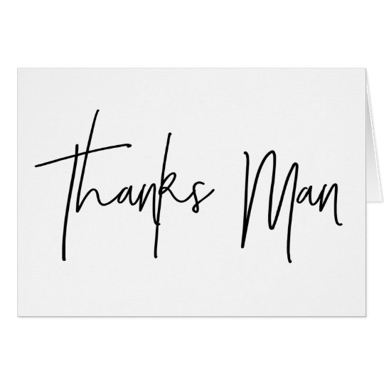Best Man Thank You Card Thanks