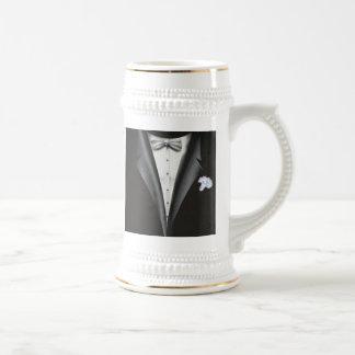 Best Man Thank You Gift - Tuxedo Template Beer Stein
