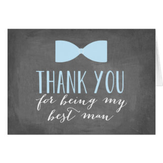 Best Man Thank You | Groomsman Card