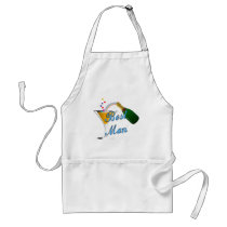 Best Man Toast Blue Adult Apron