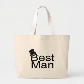 Best Man Top Hat Canvas Bags
