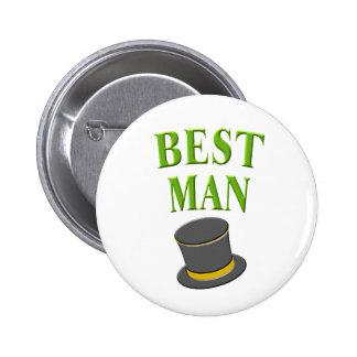 best man- top hat pinback buttons