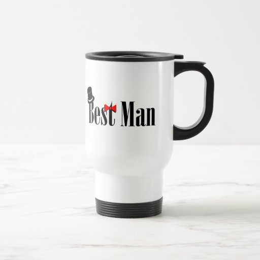 Best Man Top Hat Travel Mug