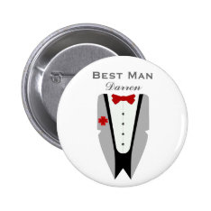 Best Man - Tuxedo Dinner Jacket Wedding Pin at Zazzle