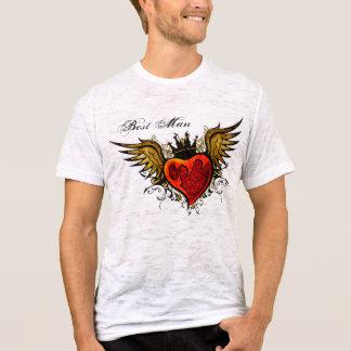 Best Man Vintage Tattoo Winged Heart  Shirt