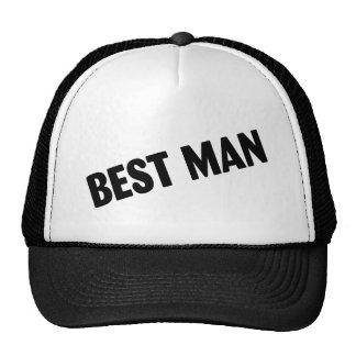 Best Man Wedding Black Mesh Hat