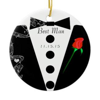 Best Man Wedding Christmas Ornament