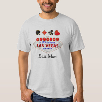 Best Man Wedding in Fabulous Las Vegas Neon Light Shirt