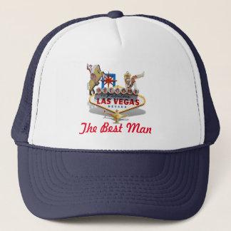 Best Man -  Wedding - Las Vegas Welcome Sign Trucker Hat