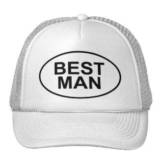 Best Man Wedding Oval Trucker Hat