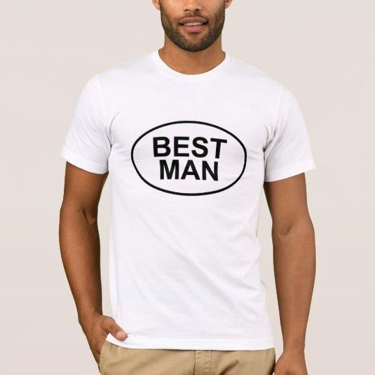 Best Man Wedding Oval T-Shirt