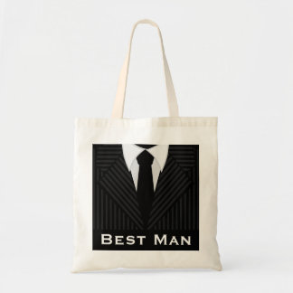 Best Man Wedding Party Attendant Budget Tote Bags