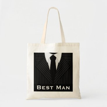 Professional Business Best Man Wedding Party Attendant Budget Tote Bags