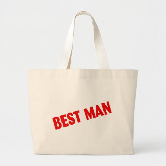 Best Man Wedding Red Large Tote Bag
