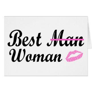 Best Man Woman Greeting Card