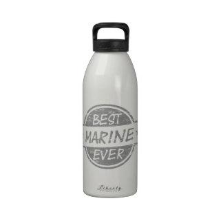 Best Marine Ever Gray Drinking Bottles