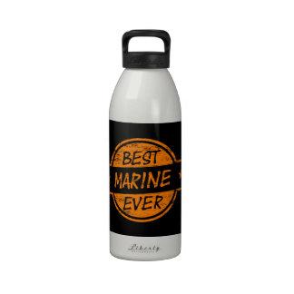 Best Marine Ever Orange Reusable Water Bottle