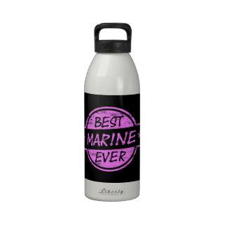 Best Marine Ever Pink Reusable Water Bottle