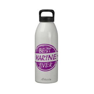 Best Marine Ever Purple Drinking Bottle