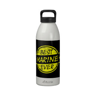 Best Marine Ever Yellow Water Bottle