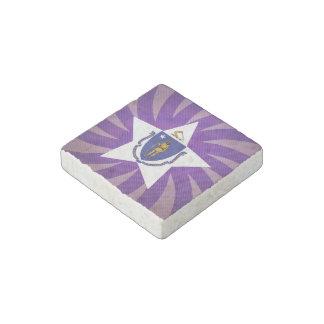 Best Massachusetts Flag Design Stone Magnet