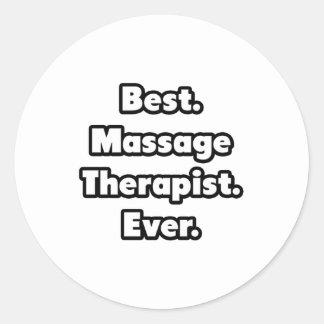 Best. Massage Therapist. Ever. Classic Round Sticker