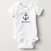 Best Mates Anchor Matching Dog and Baby Baby Onesie