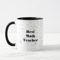Best Math Teacher math formulas and graphics Mug