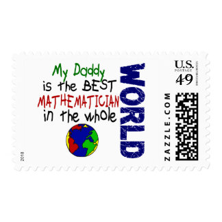 Best Mathematician In World 2 (Daddy) Postage