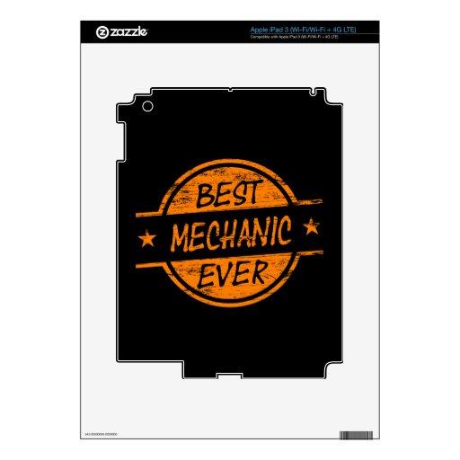 Best Mechanic Ever Orange Decal For iPad 3
