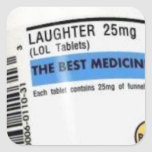 Best Medicine Square Sticker