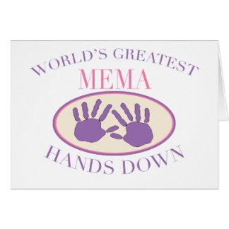 Best MeMa Hands Down T-shirt Card