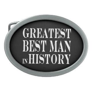 Best Men Greatest Best Man in History Oval Belt Buckle