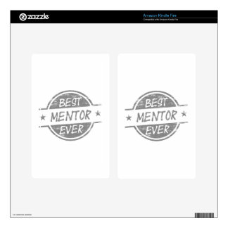 Best Mentor Ever Gray Decal For Kindle Fire