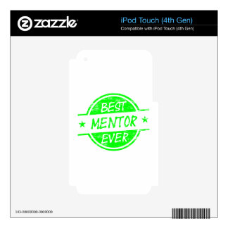 Best Mentor Ever Green iPod Touch 4G Decal