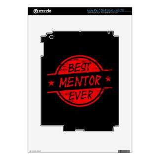 Best Mentor Ever Red iPad 3 Decals