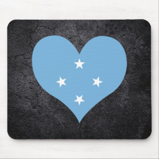Best Micronesian Heart flag Mouse Pad